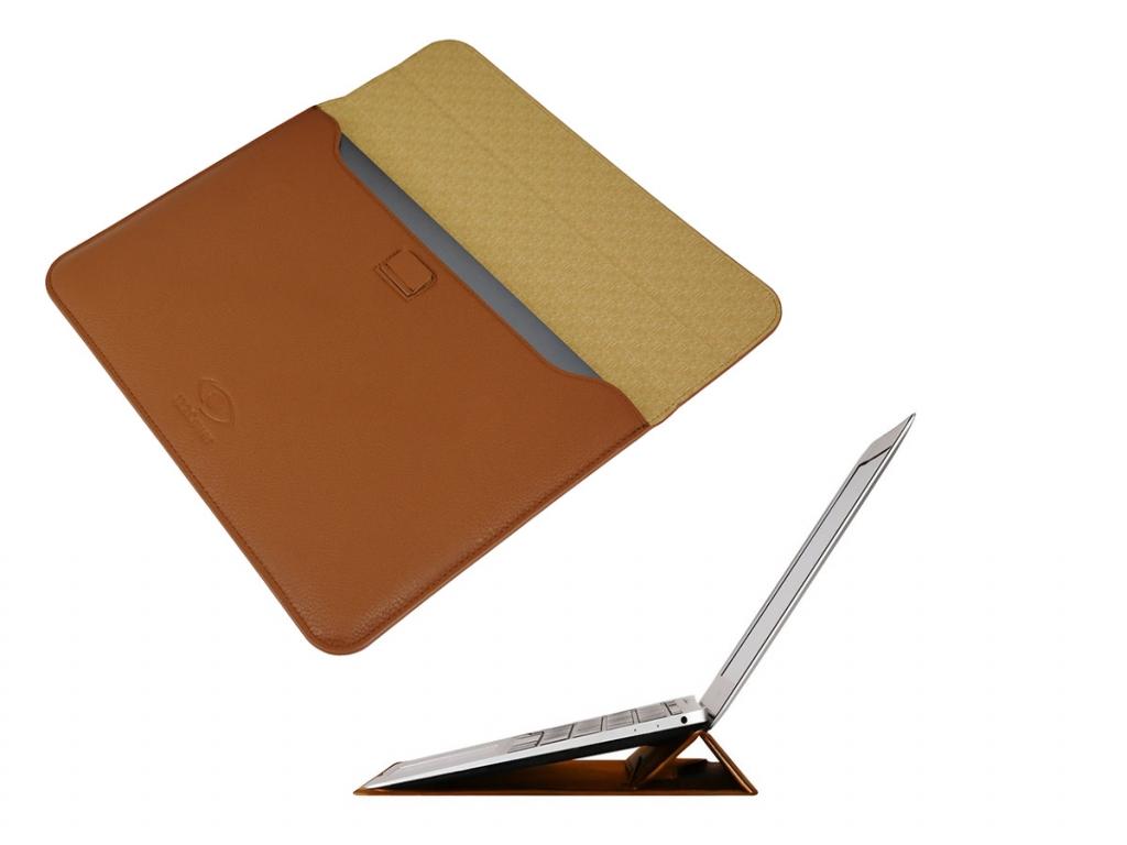 Luxe Ultra Sleeve met ergo Stand voor Sim Simtab e10317    bruin   Sim