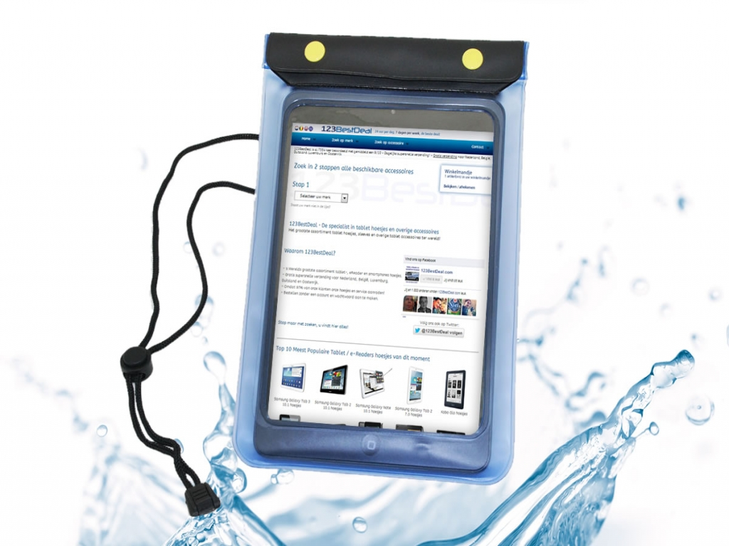 Waterdichte Salora Tab7201 hoes  -123BestDeal | transparant | Salora