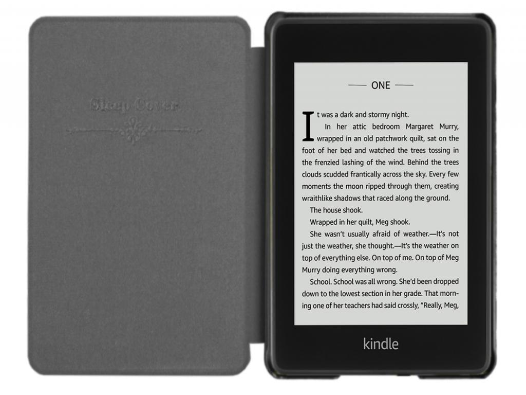 Amazon Kindl paperwhite 4 2018 e-Reader Shell Case | sleepcover | Zwart | zwart | Amazon