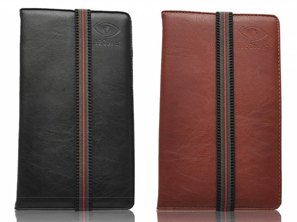 Universele Smalle 7 inch Premium Tablet hoes in de kleur zwart en bruin voor de Viewpia Tb 107