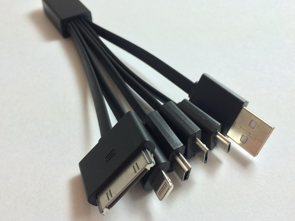 5 in 1 USB oplaadkabel voor Kazam Tornado 350