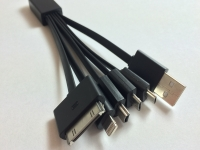 5 in 1 USB oplaadkabel voor Fujitsu Arrows kiss f 03d