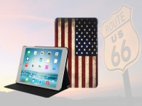 USA style Book Case for Ipad mini retina with vintage American Flag
