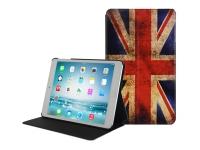 Ipad mini retina Book Case with vintage english flag