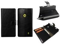 Leren Wallet Book Case voor Nokia Lumia 520