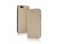 Smart Magnet luxe book case Apple Iphone 6 goudkleurig