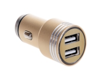 Dual USB Car Charger with lifehammer for Apple Ipod touch 4g