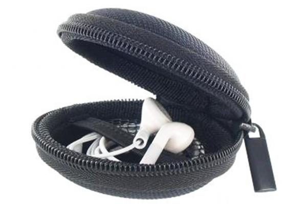 Opberg etui voor oortjes of earphones