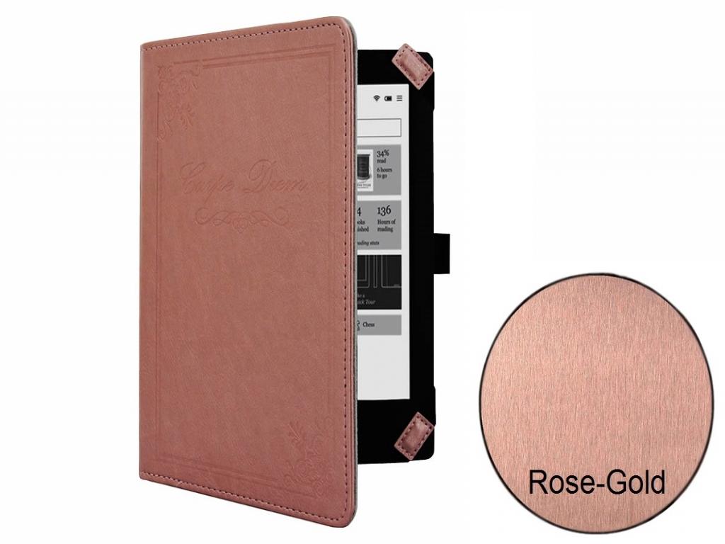 Carpe Diem hoesje voor Barnes noble Nook simple touch rose gold/goud