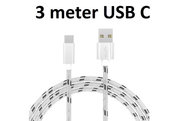 USB C kabel stof 3m voor Ruggear Rg760