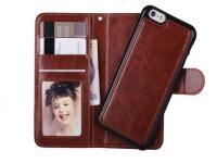 Luxe Iphone 7 Wallet Case met uitneembare houder