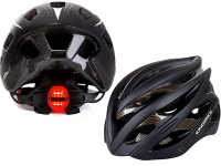 Lightweight bike helmet with rear light