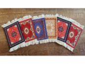 Perzisch tapijt stoffen onderzetters - set van 6 viltjes Kadotip!