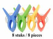 Grote Plastic Handdoeken knijpers 8 stuks