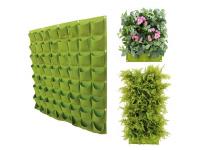 Verticale Tuin met 64 Vakken, 100 x 100 (cm), Groen