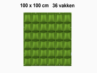 Verticale tuin met 36 grote vakken - 100cm x 100cm - verticale tuin - groen - groene wand - groene muur - verticale moestuin zakken - plantenhanger balkon - plantenbak - plantenzak 1x1 meter