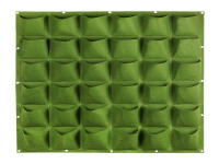 Vertical garden with 36 compartments, 100 x 100 cm | Green
