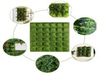 Verticale Tuin met 36 Vakken, 100 x 100 (cm), Groen