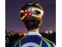 Smart bike helmet with front, rear light and indicators