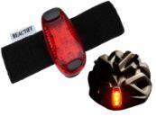 LED verstelbare helm verlichting | Rode achterlamp | Veiligheidslampje | Fietshelm | Fiets | Veiligheid | Hondenriem