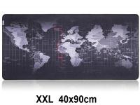Muismat Gaming XXL 90x40cm Wereldkaart | bureau onderlegger XXL | Gaming Muismat | Mousepad | Pro Muismat XXL | Anti-slip | Desktop Mat | Computer Mat | Wereldkaart