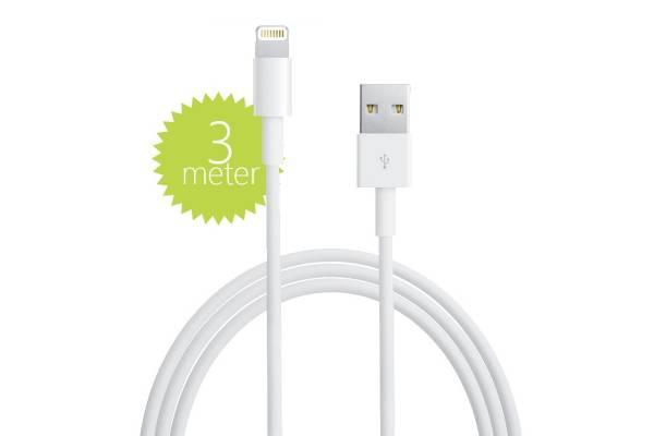 3 meter Lightning naar USB Laad- en Datakabel voor de Apple Ipad 2017