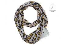 Fashion scarf with pocket (zip closure), Leopard Camo