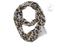 Sjaal met zakken | opbergvakje met rits | panterprint dierenprint| 4 seizoenen draagbaar, ook winter | 160 x 30cm | ronde sjaal