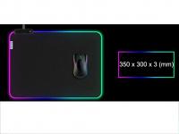 Muismat Gaming XXL RGB LED 35x30cm bureau onderlegger | RGB Gaming Muismat | Mousepad | Pro RGB LED Muismat XXL | Anti-slip | Desktop Mat | LED | Computer Mat