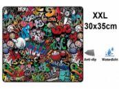 Muismat Gaming XXL 35x30cm bureau onderlegger | Gaming Muismat | Mousepad | Pro Muismat XXL | Anti-slip | Desktop Mat | Computer Mat | Grafitti Art Edition uitvoering