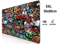 XXL Mousepad with Graffiti Design| anti slip | 80x30