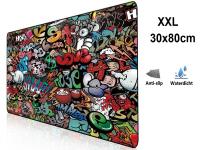 Muismat Gaming XXL 80x30cm bureau onderlegger | Gaming Muismat | Mousepad | Pro Muismat XXL | Anti-slip | Desktop Mat | Computer Mat | Grafitti Art Edition uitvoering