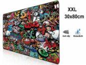 XXL Mousepad with Graffiti Design| anti slip | 80x30