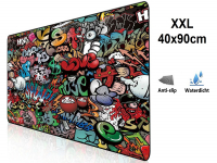 XXL Mousepad with Graffiti Design| anti slip | 90x40