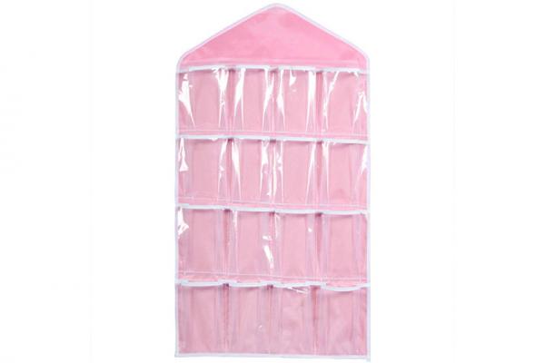 Kast organizer 16 vakken Roze, Kast opbergzakken