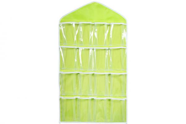 Closet organizer, 16 compartments (yellow), multifunctional