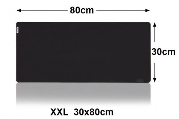 Muismat Gaming XXL 80x30cm bureau onderlegger XXL   Gaming Muismat   Mousepad   Pro Muismat XXL   Anti-slip   Desktop Mat   Computer Mat   Zwarte uitvoering