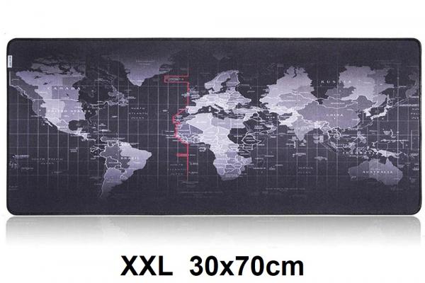 Muismat Gaming XXL 80x30cm Wereldkaart | bureau onderlegger XXL | Gaming Muismat | Mousepad | Pro Muismat XXL | Anti-slip | Desktop Mat | Computer Mat | Wereldkaart
