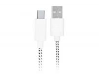 Stoffen USB-C laadkabel van 1 meter, sterke usb-c kabel gevlochten (voelt als een strijkijzer kabel)