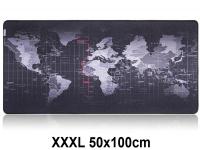 Muismat Gaming XXL 100x50cm Wereldkaart | bureau onderlegger XXXL | Gaming Muismat | Mousepad | Pro Muismat XXL | Anti-slip | Desktop Mat | Computer Mat | Wereldkaart