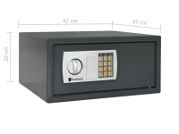 Electronic safe with number lock and spare keys, 25 Litres