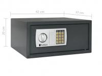 Elektrische Kluis met Cijferslot en Noodsleutels, 25 liter
