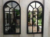 Tuinspiegel, Gotische Buitenspiegel, Kerkraam, tuin spiegel met frame, wandspiegel 70 x 34cm