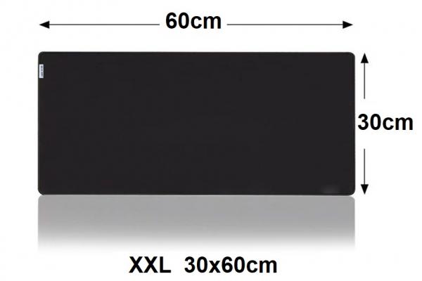 XXL Mousepad Gaming Black | anti slip | 60x30