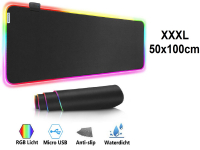 SUPER Grote Muismat 100x50 RGB LED | RGB Gaming Muismat | Mousepad | Pro RGB LED Muismat XXL | Anti-slip | Desktop Mat | LED | Computer Mat
