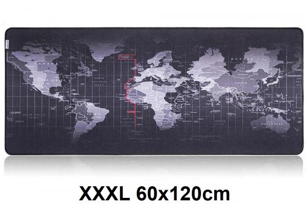 XXL/XXXL Mousepad with worldmap | 120 x 60 cm