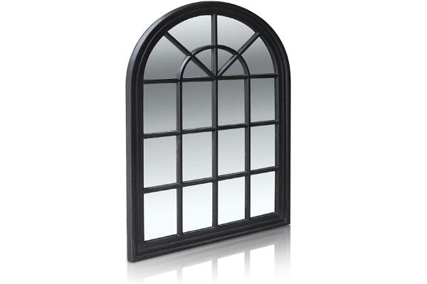Black Plastic frame mirror | Garden mirror | weatherproof