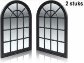 Black Plastic frame mirrors (2) | Garden mirror | weatherproof