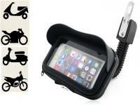 Universele regenbestendige telefoonhouder Razer Phone 2 voor Motor/Scooter/Brommer met Zonneklep
