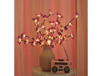 Kunstbloemen, LED Decoratie, Kunst orchideeën (Roze/Paars)